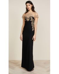 Notte by Marchesa | Stretch Crepe Grown | Lyst