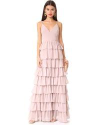 Monique Lhuillier Bridesmaids - Tiered Dress - Lyst