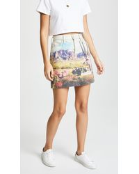 Mother - Landscape Print Skirt - Lyst