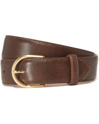 W. Kleinberg | Pebbled Leather Basic Belt | Lyst