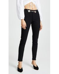 Miaou - Brigitte Jeans With Belt - Lyst