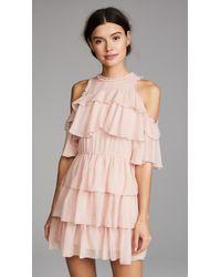Alice + Olivia | Nichola Ruffle Party Dress | Lyst