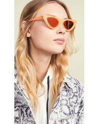 dec1a2730dcc2 Le Specs Elysium Flat Top Sunglasses in Blue - Lyst
