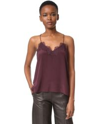 One By - Lace Racer Camisole - Lyst