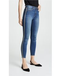 L'Agence - High Rise Skinny Jeans With Metallic Trim - Lyst