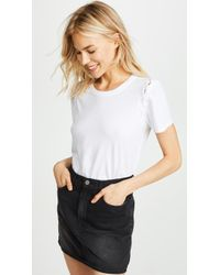 Chaser - Lace-up Sleeve Tee - Lyst