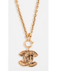 What Goes Around Comes Around - Chanel Quilted Large Cc Necklace - Lyst