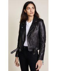 BLK DNM - Cropped Leather Motorcycle Jacket  - Lyst