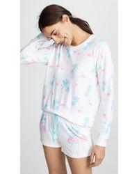 Pj Salvage - Tropicana Pyjama Top - Lyst