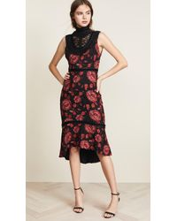 Alice + Olivia - Evelina Ruffle Dress - Lyst