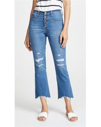 Madewell - Button-front Cali Demi-boot Jeans - Lyst