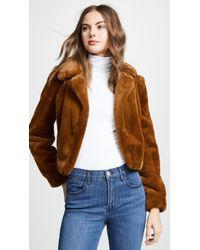 Blank NYC - Cropped Faux Fur Jacket - Lyst