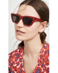 c47ffc6354 Saint Laurent - Narrow Cat Eye Sunglasses - Lyst