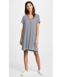 Wilt | V Neck Striped Trapeze Dress | Lyst