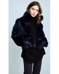 Adrienne Landau - Fur Jacket With Fox Collar - Lyst