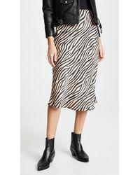 Re:named - Jully Tiger Midi Skirt - Lyst