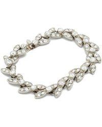 Ben-Amun - Crystal Leaves Bracelet - Lyst