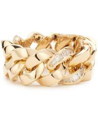 SHAY - 18k Gold Single Baguette Diamond Jumbo Link Ring - Lyst