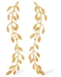 Rachel Zoe - Sania Leaf Drop Earrings - Lyst