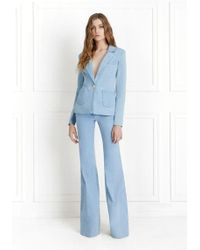 Rachel Zoe - Shannon Light Denim Blazer - Lyst