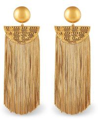 Rachel Zoe - Justine Fringe Earrings - Lyst