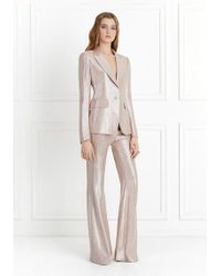 Rachel Zoe - Lauren Metallic Suiting Wide-leg Pants - Lyst