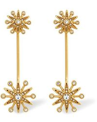 Rachel Zoe - Clea Crystal Pavé Starburst Drop Earrings - Lyst