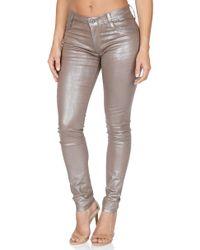 James Jeans - Twiggy Metallic Coated Skinny Jeans - Lyst
