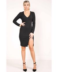 Showpo - Moving Out Dress In Black - Lyst