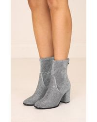 Showpo - Therapy Shoes - Hoxton In Silver Sparkle - Lyst