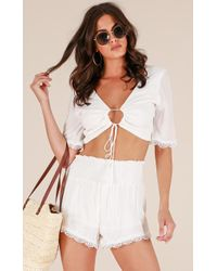 Showpo - Honey Life Two Piece Set In White - Lyst