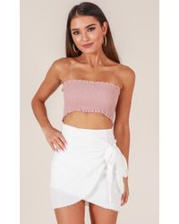 Showpo - Not Happening Skirt In White - Lyst