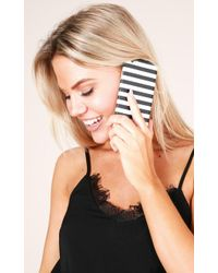 Showpo - Would You Mind Iphone 6 Cover In Black Stripe - Lyst