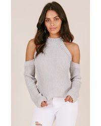 Showpo   Never Released Knit In Grey   Lyst