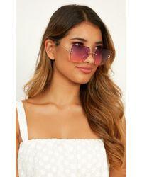 0f029fec49f24 Karen Walker. Eyes For You Sunglasses.  200. Saks Fifth Avenue · Showpo -  Reach For You Sunglasses - Lyst