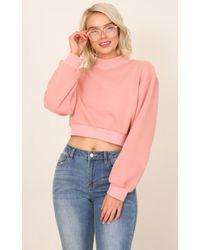Showpo - Walking On Sunshine Sweater In Pink - Lyst