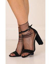 Showpo - Penny Socks In Black - Lyst