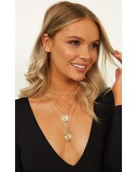 Showpo - Leave Me Here Necklace - Lyst
