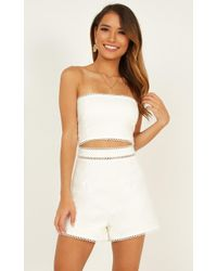 Showpo - Then Fall Back Together Two Piece Set - Lyst