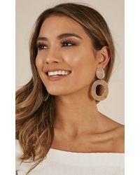 Showpo - Do It Better Earrings In Natural Tortoiseshell - Lyst