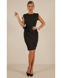 Showpo - Far And Wide Dress In Black - Lyst