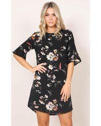 Showpo - Eastern Sun Shift Dress In Black Floral - Lyst