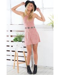 Showpo - Xena Dress In Mauve - Lyst