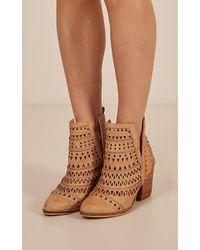 Showpo - Verali - Karina Boots In Tan - Lyst