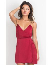 Showpo - Slip It On Dress In Wine - Lyst