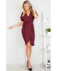Showpo - All Shook Up Dress In Wine - Lyst