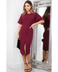 Showpo - Run The Show Dress In Wine - Lyst