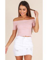 Showpo - Malibu Sunset Skirt In White - Lyst