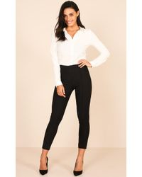 Showpo - Hierarchy Pants In Black - Lyst