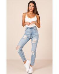 Showpo - Milla Jeans In Mid Wash Denim - Lyst